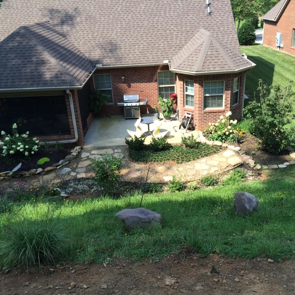 Landscaped Garden Rock Path